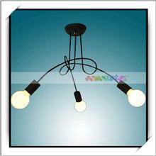 Cheap E26 E27 3 Light Modern Metal Chandelier Ceiling Lamp US Standard Random Delivery