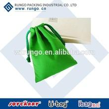 Green durable fashion canvas cotton tote bag/drawstring bag