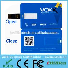 Cheapest usb card , credit card usb flash , slim card pendrive OEM 1GB