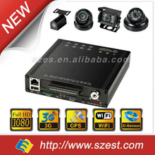 3G 8 channel 1080p mobile DVR with GPS, 3G,WIFI, Gsensor