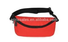 promotional red zipper cycling elegant mini waist bag for ipad