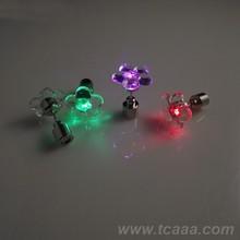 Approvisionnement de noël bijoux lumière jusqu'à boucle d'oreille / clignotant lumière boucle d'oreille
