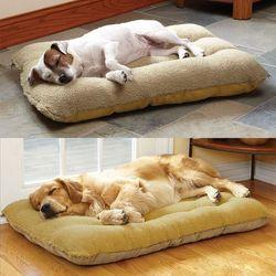 Wholesale washable square golden labrador large dog kennel with lamb suede pet nest pad
