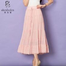 2015 Fancy design high waistband cheap wholesale women's long chiffon skirts