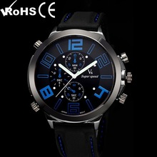 Big Face Rubber Clock V6 watches Men's Silicone Wrist watch