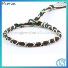 2014 top selling high quality elastic Hemp/Nylon/Cottonrope wrap braided Bracelet