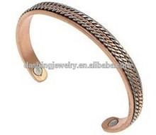 Magnetic copper bracelet for men