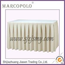 White skirting for metting / hotel table skirt