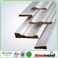 White coated MDF waterproof baseboard
