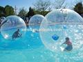 niza diseño caliente inflable caminar sobre el agua de polo de plástico de la válvula de bola