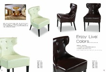 modern new design leather hotel chair banquet chair
