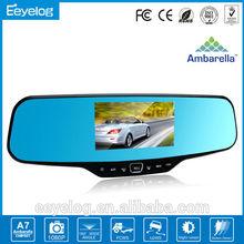 ambarella a5 carcam hd car dvr car rearview mirror camera dual lens