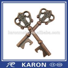 wholesale personalized antique key bottle opener in zinc