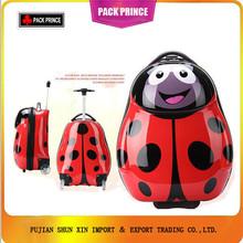Ladybird shape ABS+PC animal print luggage