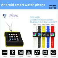 wireless charging smart watch phone android 4.4 watch phone nano waterproof 3G wifi phone watch