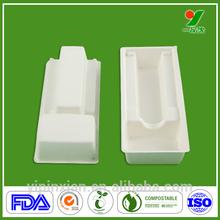 Natural sugarcane fibers custom BRC plastic chocolate tray