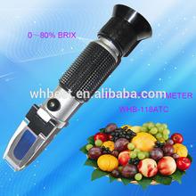 factory direct sale hand held Brix refractometer snellen chart beekeepers Refractometer Sugar Tester 0-80% test range