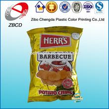 Atacado de ouro projeto sabor churrasco batata chips embalagem saco