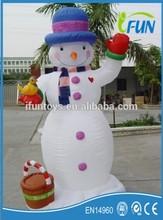 cheap inflatable LED snowman decoration/LED inflatable snowman decoration/light inflatable snowman for festive decor