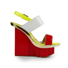 CATWALK-S2030260 woman wedge sandals 2015 latest ladies slippers shoes and sandals /branded ladies sandals/sexy platform wedges