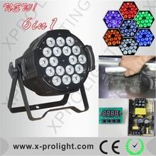 18x15W RGBWA+UV High Power PAR 64 LED DJ Stage Lamp Show Light SIX Color mixing Effect UV LED light