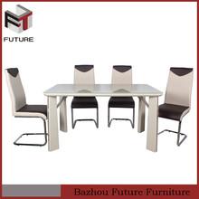 modern luxury wood rectangular dining room table set