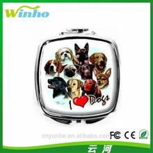 Winho love dogs--metal compact mirror
