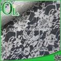 hermoso blanco de nylon tejido de encaje africano del cordón de tela para ropa