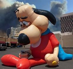 Advertising/Decoration inflatable cartoon dog,inflatable dog