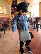 [ Girl ] Petty wave of flavor motorcycle clothing brand denim jacket denim clothing BZ-680