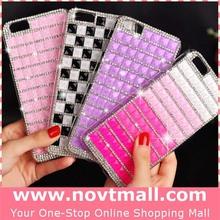 for iphone 6 case rhinestones, full rhinestones cell phone cases for iphone casing with transparent plastic