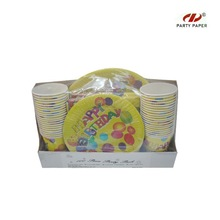 Paper plate party sets/2014 birthday party set party decoration set
