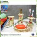 polyresin 4 pcs escova de vaso sanitário conjunto banheiro saboneteira dispensador de sabão