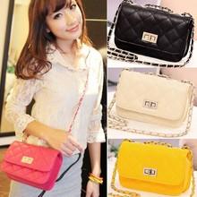 Women's Leather Cute Mini Cross Body Chain Shoulder Bag SV002306#