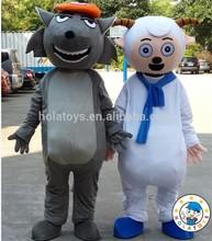 goat&wolf mascot costume/cartoon goat mascot for sale