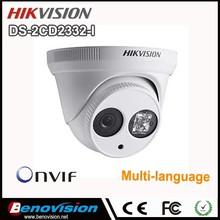 Hot sale 3.0 Megapixel Infrared H.264 good price hikvision network camera DS-2CD2332-I in distributor price !