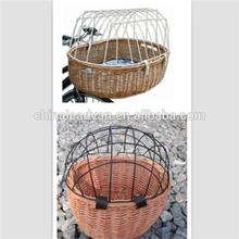 Handmade Wicker Dog Bike Basket