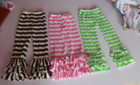 Wholesale Boutique Children Cotton Trousers With Stripe Printed Girls Pants For Little Girls Triple Ruffles Pants