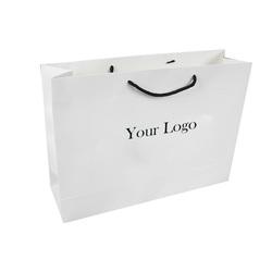 retail cardboard logo paper shopping bag