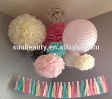 Arts and craft items paper pom pom as wedding supplies