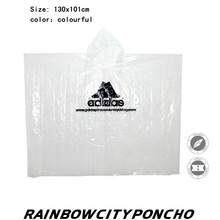 PE disposable rain poncho for promotion outdoor raincoat with logo printing