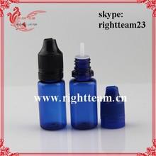 tamper proof/ childproof dropper bottles eliquid bottles pet 10ml in blue