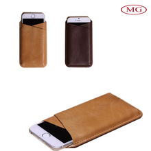 for Apple Iphone6&plus Sumsung Galaxy note4 Envelope Style Case Cover Bag, Retro Genuine Handmade Leather Case Cover Bag