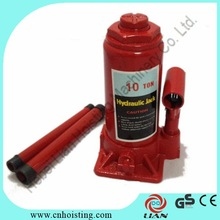 Mechanical Tools 10ton Hydraulic Bottle Jack for lifting car and truck to repair