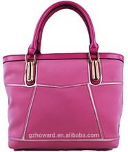 factory wholesale splice popular brand pvc leather handbag