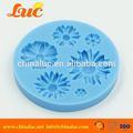 lsm052 panadería utensilios para hornear de silicona del molde de toma de suministros fondant margarita molde