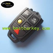 Topbest 5 button smart key case for Volvo key case S60,S80,V70,XC70,XC90
