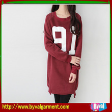 women round neck printed figure plain casual without hood hoodie