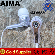 2014 AIMA Transparent Earphone Hot Super Bass Earphone Headset MP3/MP4/PC/Mobiles Earphone Headset