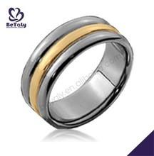 Shiny fashion yellow belt innovation jewelry titanium jewel rings
